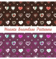 bright hand drawn doodle hearts St Valentine Day vector image vector image