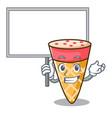 bring board ice cream tone character cartoon vector image vector image