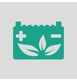 Car battery leaf icon vector image vector image
