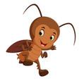 cartoon cockroach flying vector image vector image