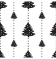 Christmas seamless tree doodles pattern vector image vector image