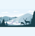 christmas winter atmospheric landscape with snow vector image