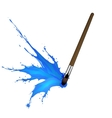 Colorful splash from brush vector image vector image