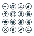 cooking icons universal set vector image
