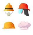 design of headgear and cap symbol vector image