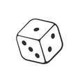 doodle one casino dice vector image