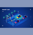 driverless or self driving car at road automobile vector image vector image