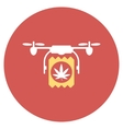 Drugs Drone Delivery Flat Round Icon vector image vector image