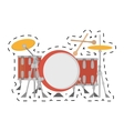 drum kit precussion musical dotted line vector image vector image