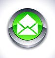 e-mail 3d button vector image vector image