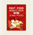 fast food poster eating out vector image