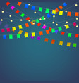 Festival background with garland vector image vector image