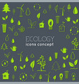 flat eco background concept vector image vector image