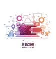 flat for ui-ux design web design vector image vector image