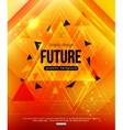 Future Background template for creating Flyer vector image vector image