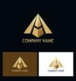 gold letter a arrow company logo vector image vector image