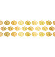golden pumpkins seamless border repeating vector image vector image