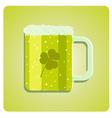 green beer glass vector image vector image