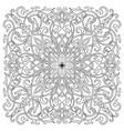 hand-drawn mandala art tile in oriental style vector image vector image