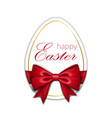 happy easter background lettering egg greeting vector image vector image