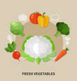 healthy eating colored composition vector image