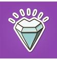 Heart shaped diamond stone vector image vector image