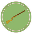 hunting shot gun icon vector image