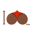 I love ass Afro Americans Symbol of heart of vector image vector image