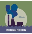 Industrial pollution Factory with smoke stack