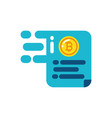 isolated bitcoin document design vector image vector image