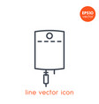 iv bag line icon on white vector image vector image