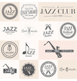 jazz label vector image vector image