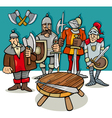 knights of the round table cartoon vector image vector image