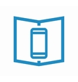 logo combination a book and phone vector image