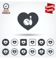 Love Bowling game icon Ball with pin skittle vector image