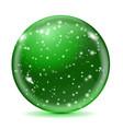 magic green ball with snowflakes vector image