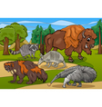 Mammals animals cartoon vector image
