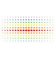maple leaf spectral halftone effect vector image vector image