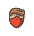 masked criminal men icon cartoon vector image