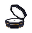 modern beautiful black jewelry box for gift vector image vector image