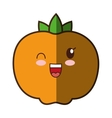 orange fresh fruit kawaii style isolated icon vector image