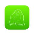 orangutan icon green vector image vector image