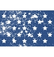 Pattern with american stars in grunge style vector image
