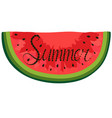 poster with red watercolor watermelon lettering vector image