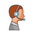 profile man operator of customer service with vector image vector image