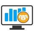 puppycoin chart monitoring flat icon vector image