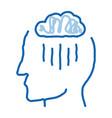 rainy cloud cloudburst silhouette headache vector image vector image
