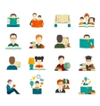 Reading Icon Flat vector image vector image