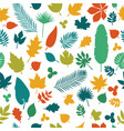 seamless pattern with colored leaves autumn vector image vector image