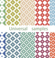 Set from ten original samples on a white vector image vector image